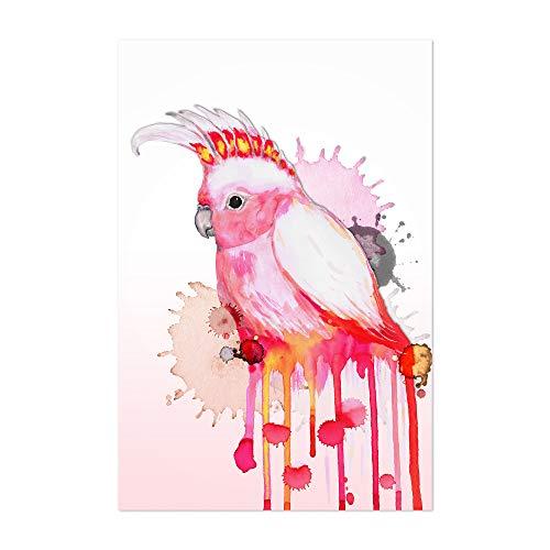 Noir Gallery Cockatoo Bird Animal Watercolor 5