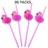 8 Dozen Flamingo Honeycomb Straws - Hawaiian Luau/Birthday/Pool Party Supplies Tropical Drinks Decorations