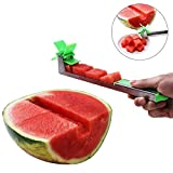 Stainless Steel Watermelon Slicer - Melon and Cantaloupe Fruit Slicer, Professional Restaurant Chefs - Easy Grip Kitchen Gadgets Carver, Cutter, Knife - Carving and Cutting Tools for Home,