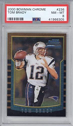 Tom Brady 2000 Bowman Chrome #236 Rookie Card PSA ()