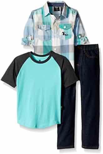 American Hawk Boys' Long Sleeve Shirt, T-Shirt and Pant Set (More Styles)