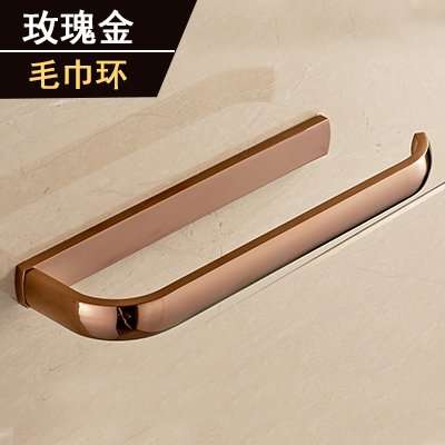 Yomiokla Bathroom Accessories - Kitchen, Toilet, Balcony and Bathroom Metal Towel Ring American Antique-Brass Black Classical Antique Ornaments Rose Gold (USA)