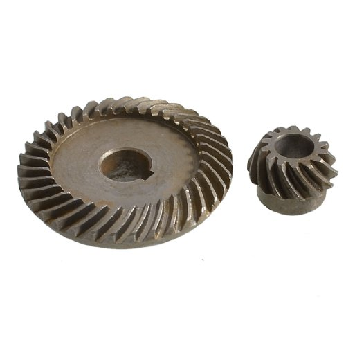 Pinion Gear Set (Uxcell a12071100ux0225 35-Teeth Gear 14 Tooth spiral Bevel Pinion Set for 100 Angle Grinder, Metal)