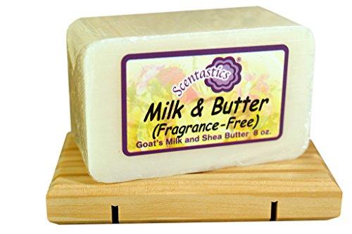 Scentastics Goat's Milk & Shea Butter Milk & Butter (Fragrance-Free) Soap (8 oz. bar)
