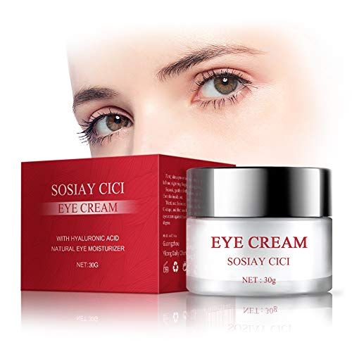 Under Eye Treatment Moisturizer, Anti-Aging Eye Cream with Squalane, Caffeine & Hyaluronic Acid for Wrinkles, Fine Lines, Dark Circles and Puffiness. 30ml for All Skin Types