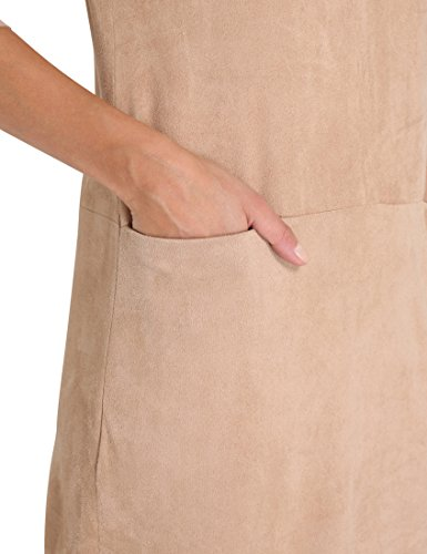 Beige Beige Berydale Lederoptik in Kleid Damen 8q07g