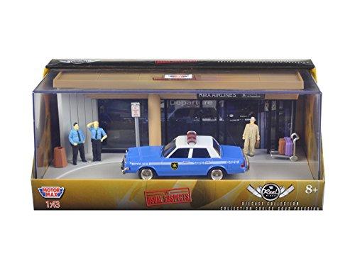Motormax 73864 Diorama The Usual Suspects Movie 1983 Dodge Diplomat Salon Police Car 1-43 Diecast Model (Diplomat Dodge Police Car)