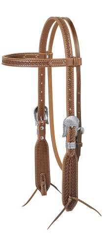 (Weaver Leather Native Tooled Headstall)