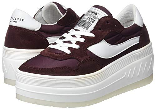 nylon Women's Burdeos C43915 Burdeos Sixtyseven 79893 top Low Red Sneakers milda 8dqpgdxw