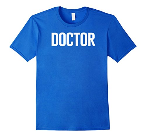 Mens Kids Doctor Shirt, Doctor Costume T-Shirt Large Royal (Dr Who Costume Ideas)