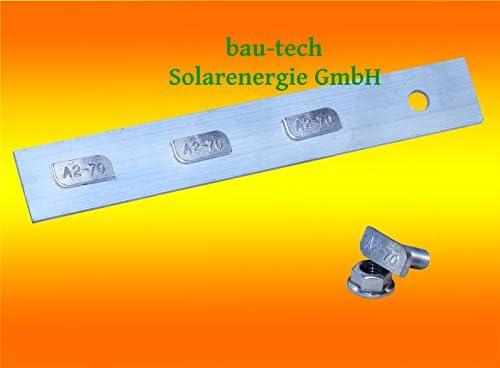 6 Stück Profil Verbinder ALU inkl. Hammerkopfschrauben für Solar Photovoltaik PV Montage von bau-tech Solarenergie GmbH