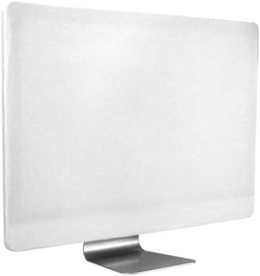 CDC Protector de Pantalla para computadora de Escritorio, 21 Pulgadas 27 Pulgadas Monitor de iMac Cubiertas de Polvo de Pantalla Monitor de PC Estuche de Panel antiestático a Prueba de polvo-White-27: Amazon.es: