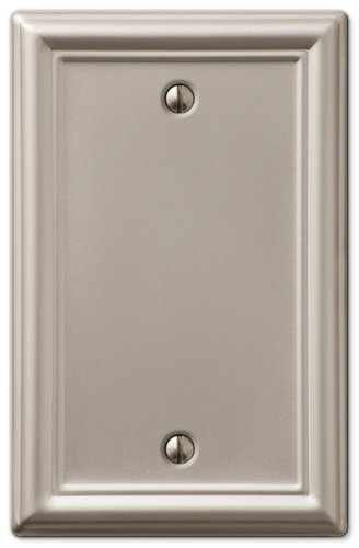 Amerelle Chelsea Blank Steel Wallplate in Brushed Nickel