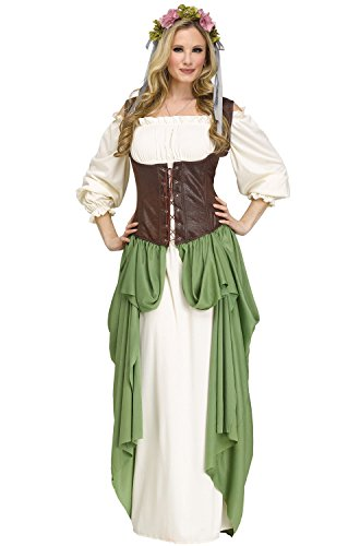 Fun World Women's Wench Costume, Multi, (Bar Wench Costumes)