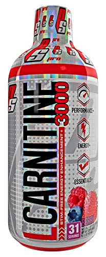 ProSupps L-Carnitine 3000 Liquid Fat Burner, Stimulant Free Metabolic Enhancer, 31 Servings (Berry Flavor) ()