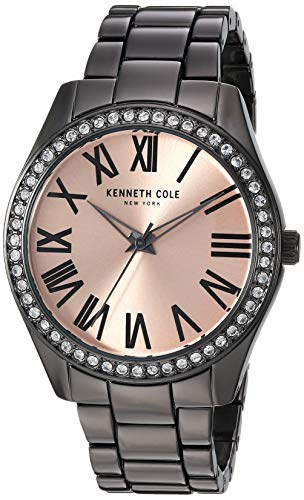 Kenneth Cole New York Women's 'Classic' Quartz Stainless Steel and Alloy Watch, Color:Grey (Model: KC50664005