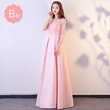 XIU*RONG Bridesmaid Dress Pink Bridesmaid Dress Vestido Fiesta Vestido De Noche Vestido De Mujer