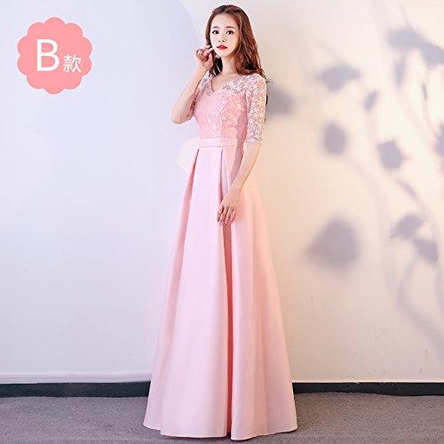 De Noche XIU Vestido Bridesmaid RONG Dress Vestido B Vestido Pink De Fiesta Dress Bridesmaid Mujer wU7Hwq