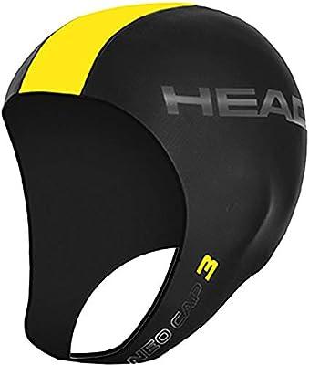 Head Neo Cap Gorro De Natación, Unisex Adulto, Black-Yellow, XL ...