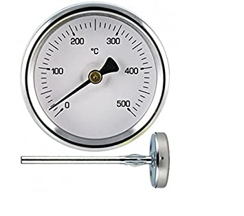 1 Termómetro para medir hasta 500º grados de temperatura, sonda de 30 cm, para horno a leña, barbacoa: Amazon.es: Hogar
