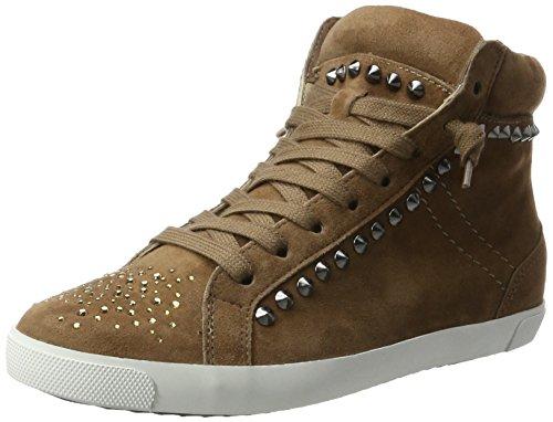 Kennel und Schmenger Schuhmanufaktur Queens, Sneaker Alte Donna Braun (Cuir Sohle Weiss)