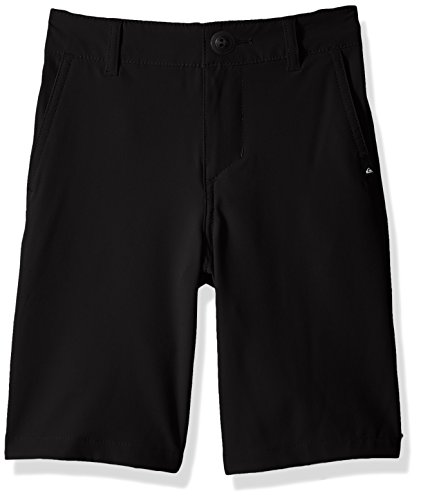 (Quiksilver Boys' Big Union Amphibian Kids Swim Trunks, Black, 24/8)