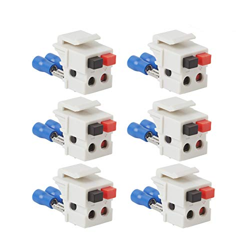 (TENINYU Dual Speaker Module Keystone White,Installation Equipment/Wall Jacks/Inserts (6)