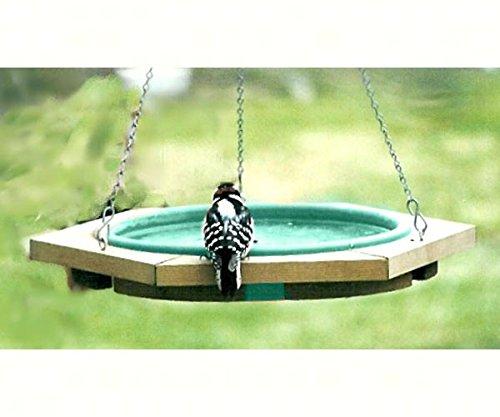 2 PACK Mini Hanging Bird Bath Green