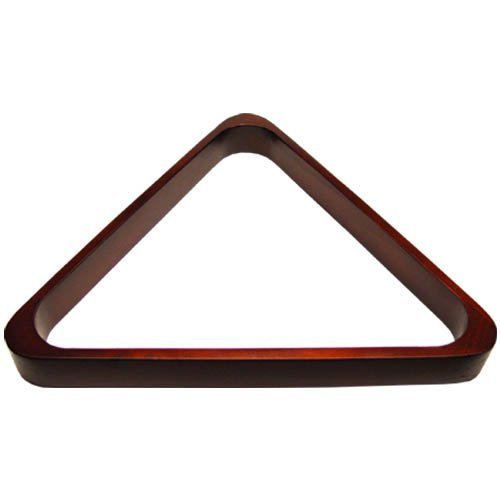 Deluxe Wood Pool Ball Triangle, Mahogany by Deluxe