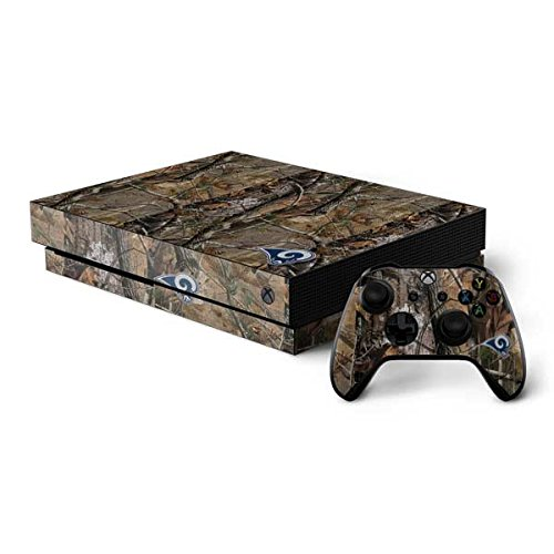 Skinit NFL Los Angeles Rams Xbox One X Bundle Skin - Los Angeles Rams Realtree AP Camo Design - Ultra Thin, Lightweight Vinyl Decal Protection by Skinit
