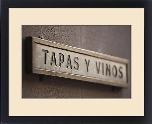 Framed Print of Spain, Aragon Region, Zaragoza Province, Zaragoza, El Tubo entertainment area by Fine Art Storehouse