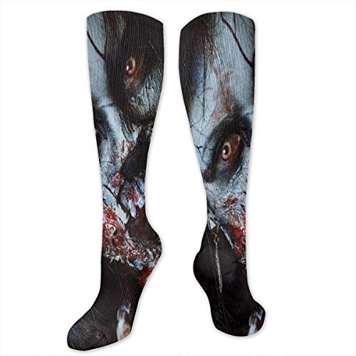 Compression Socks,Scary Dead Woman With A Bloody Axe Evil Fantasy Gothic Mystery Halloween Picture]()