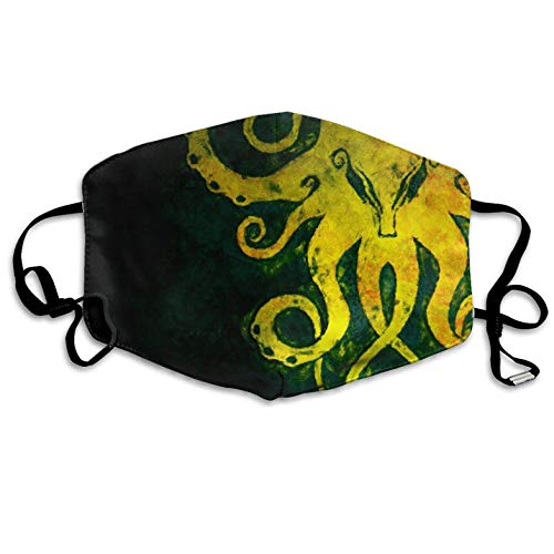 Anti Dust Pollution Mask Yellow Octopus Reusable Washable Earloop Face Mouth Mask Men Women