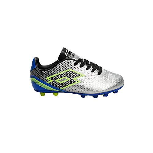 a704220fcbb0 Lotto Boys Spectrum Elite Soccer Shoe, Kids, Silver/Blue, 2 M US