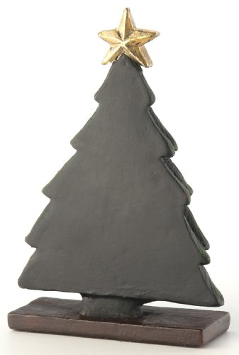 October Hill Decorative Black Chalkboard Holiday Tree Place Card Holder/Menu Buffet Label, Mini (Tree Holder Card Place)
