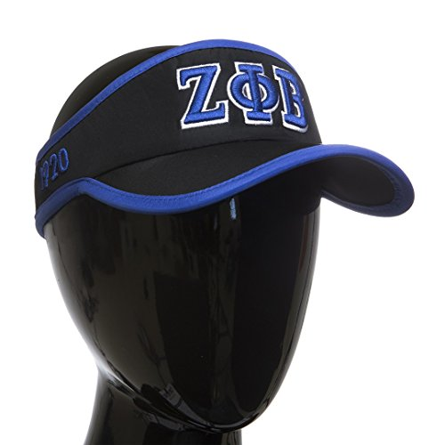 Zeta Phi Beta Sorority Feather- light Visor Black