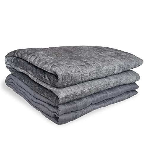 Cheap Ray-Sky Adult Weighted Blanket Cooling Heavy Blanket with Removable Cover for Adults 140-180 lbs Premium Cotton with Glass Beads(15 lbs 48