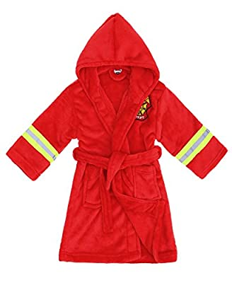 Arctic Paw Boys/Girls' Plush Soft Hooded Terry Bathrobe Robe with Pockets