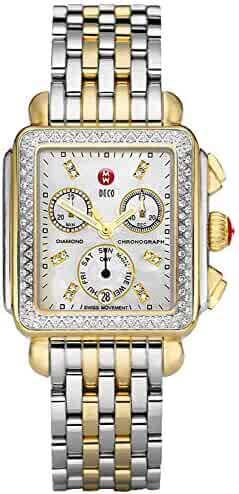 Michele Deco 120 Diamonds Two-Tone Mother of Pearl Women's Watch MWW06P000108