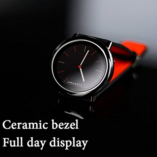 For Xiaomi Amazfit Pace GPS Running Sport Smartwatch Movement Record,Black/Red (Red) by Freshzone (Image #3)