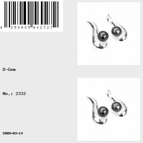 Boucles d'oreille à tige en perle de Majorque Noir