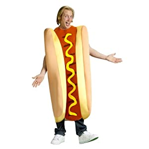 Fun World Hot Dog, Tan/Red, One Size Costume