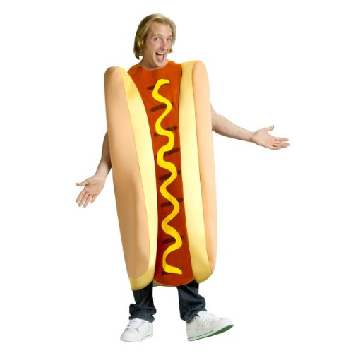 (FunWorld Hot Dog, Tan/Red, One Size)