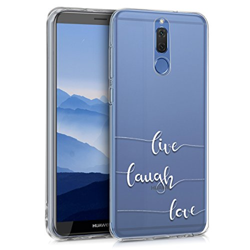 10 Lite Crystal - kwmobile TPU Silicone Case Compatible with Huawei Mate 10 Lite - Crystal Clear Smartphone Back Case Cover - White/Transparent