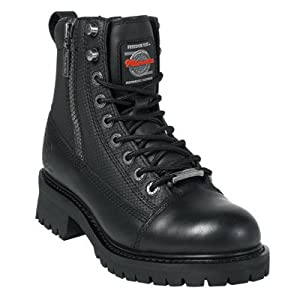 Milwaukee Motorcycle Clothing Company Accelerator Leather Men's Motorcycle Boots (Black, Size 11D)