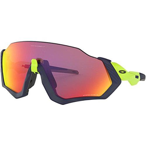 Oakley Men's Flight Jacket Non-polarized Iridium Rectangular Sunglasses, Matte Navy, 0 Mm
