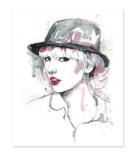11x14 Taylor Swift Poster Art Print // Wall Decor Picture // Portrait Watercolor painting (Of Pictures Taylor)