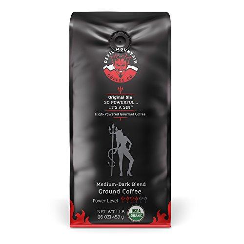 Original Sin, High-Powered Gourmet Coffee - USDA Certified Organic, Med-Dark (Ground) 16 oz.