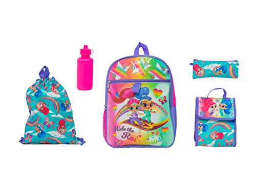 Shimmer and Shine Girls 5 Pc Set Backpack, Pink, One Size ()
