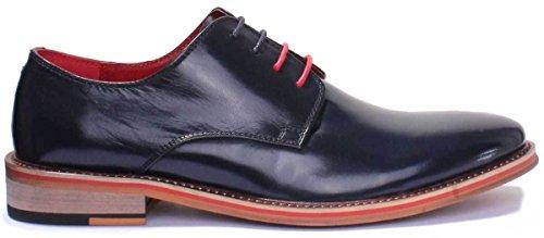 scuro uomo bassa D200 Blu Reece Lacci Scarpa da Justin Tq76Az7